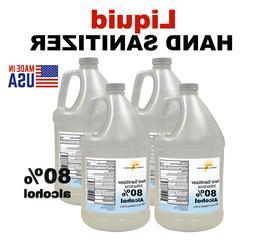 Hand Sanitizer Bottle Liquid  - 4 Gallons 128 oz 80% Alcohol