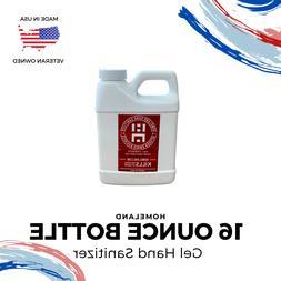 Hand Sanitizer Gel   16 Ounce Refill Bottle   75% Alcohol