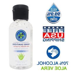 Hand Sanitizer Gel 2 OZ - 70% Alcohol w/ Aloe & Mild Lemon S