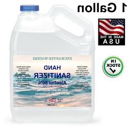 Hand Sanitizer Liquid  80% Alcohol -Made USA- 1 Gallon - 24h