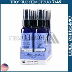 EO Hand Sanitizer Spray, Organic French Lavender, 2 Ounce