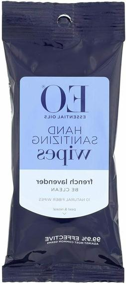 EO Products Hand Sanitizer Wipes, Lavender, 10 Count  -SAME