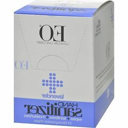 EO Products Hand Sanitizer Wipes - Lavender - Case of 24