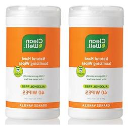 Cleanwell Hand Sanitizer Wipes Orange Vanilla  With Thyme Oi