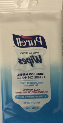 PURELL Hand Sanitizing Wipes, Clean Refreshing Scent, 10 Ct