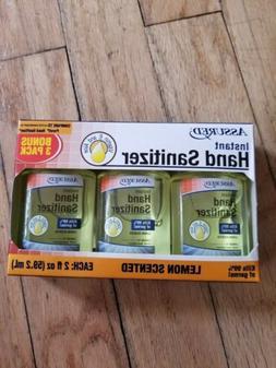 Assured Instant Hand Sanitizer 3-Pack Travel Size Lemon Scen