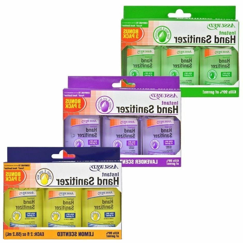 1 3 pack travel size instant hand