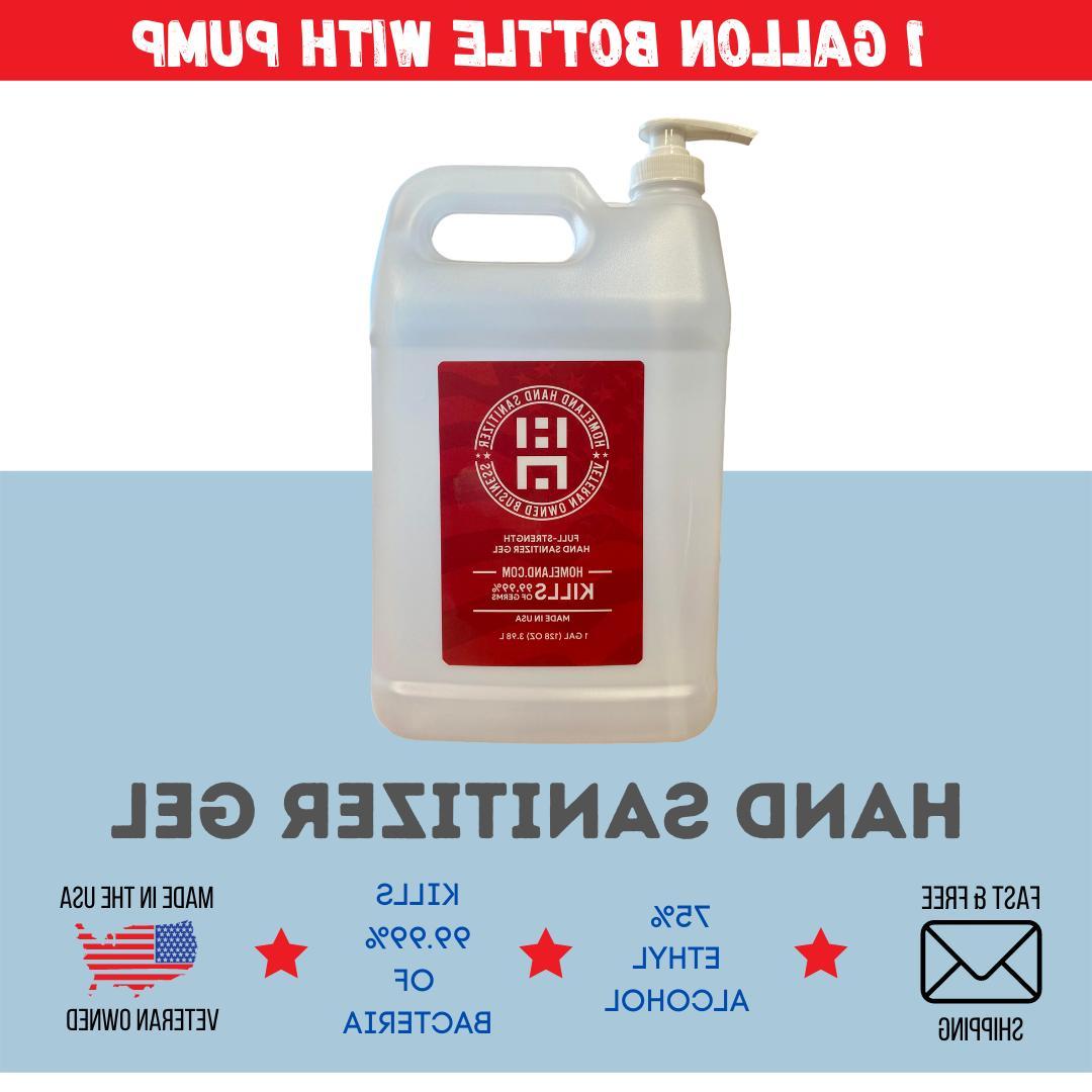 1 gallon gel hand sanitizer with pump