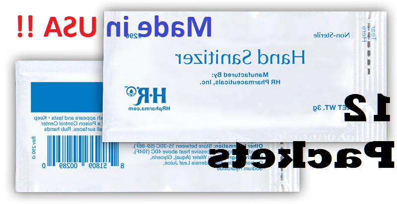 12 hand sanitizer gel packets 70 percent