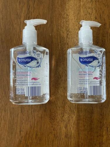 2 bottles hand sanitizer 70 percent alcohol