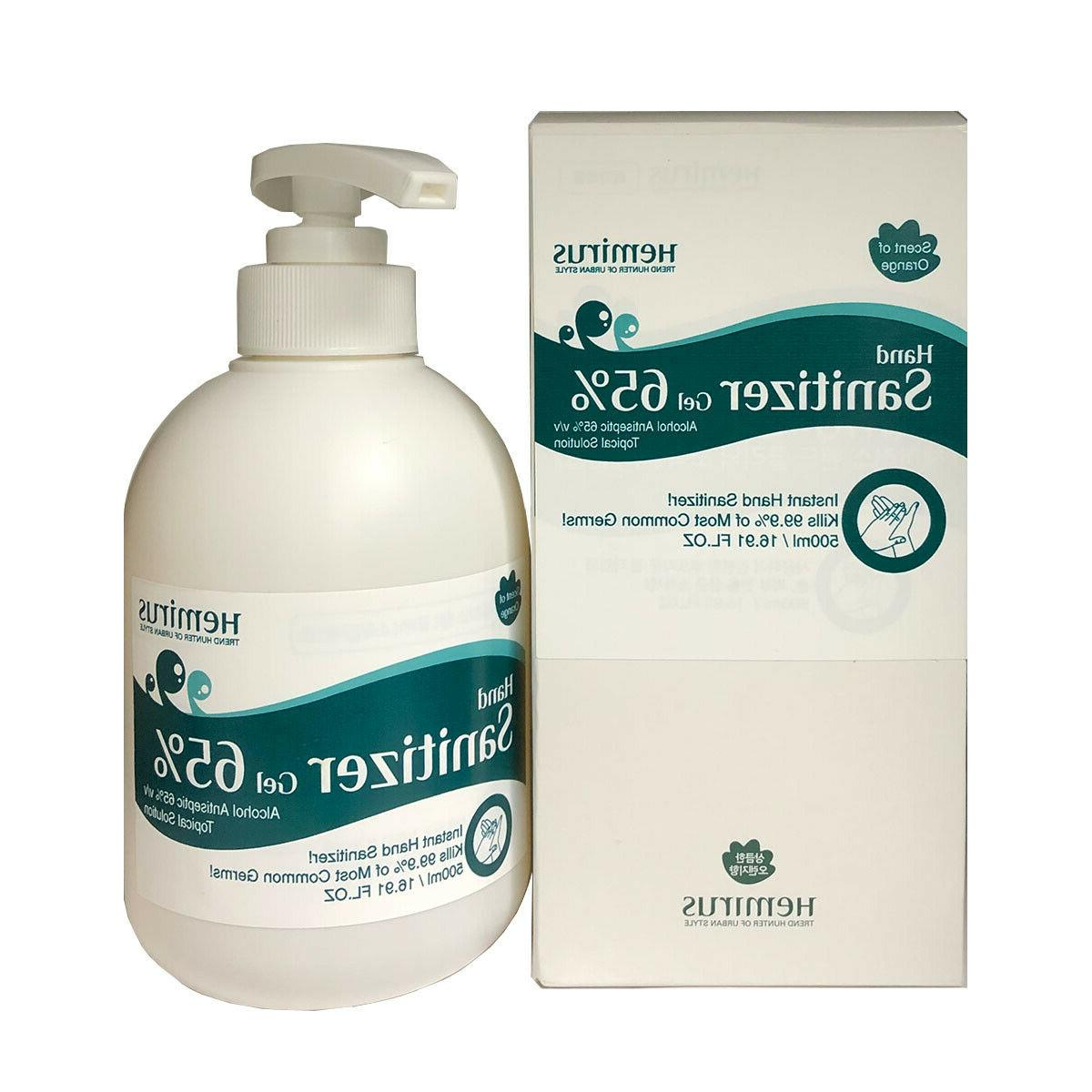 "Hand Sanitizer Gel Pump, 16.9 oz - SELLER"""