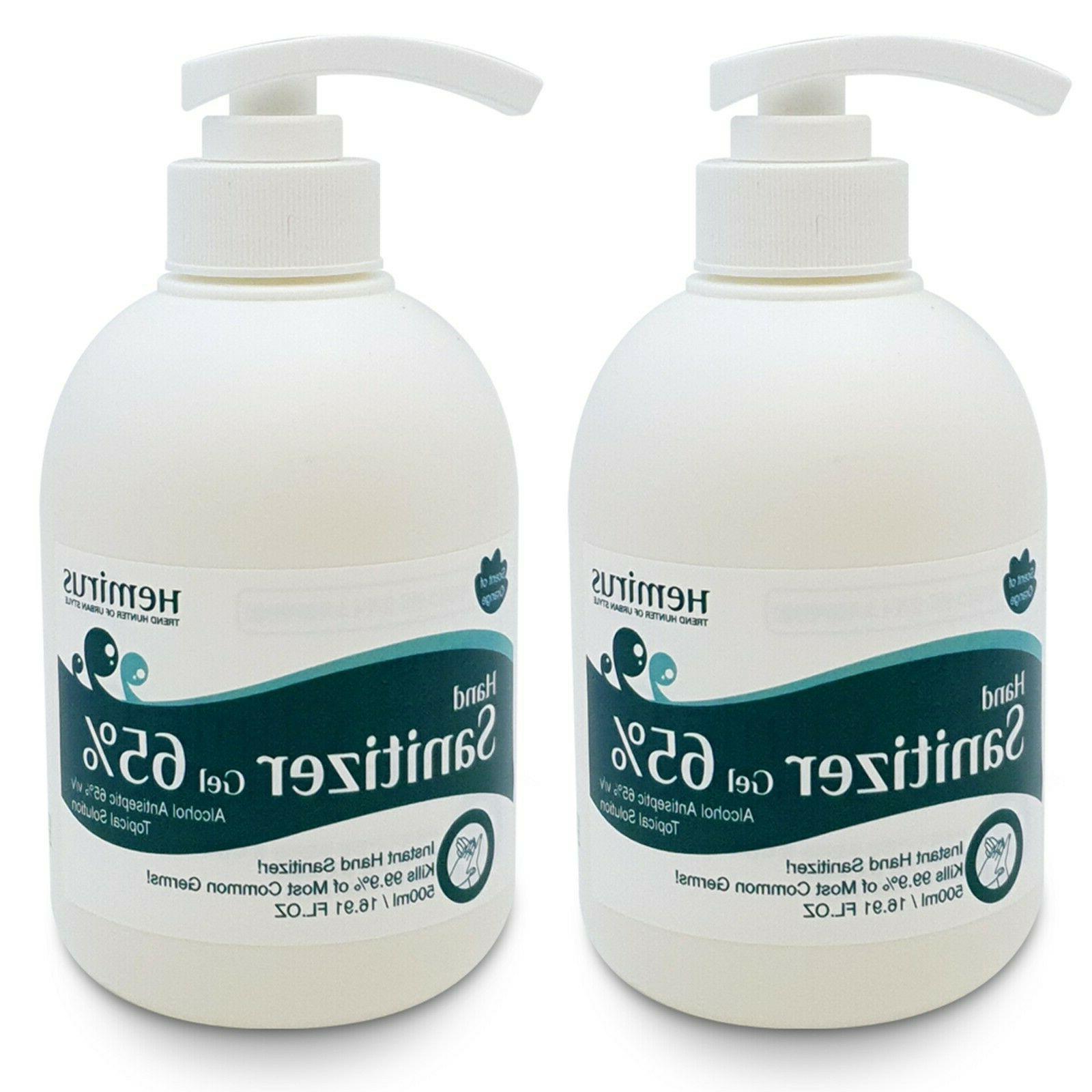2 pack hand sanitizer gel pump 16