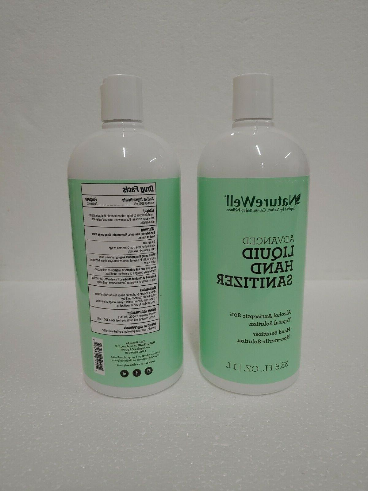 2 x Liquid Sanitizer 1000 33.8 oz 80% Solution