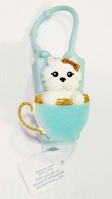 1 bath body works blue teacup dog