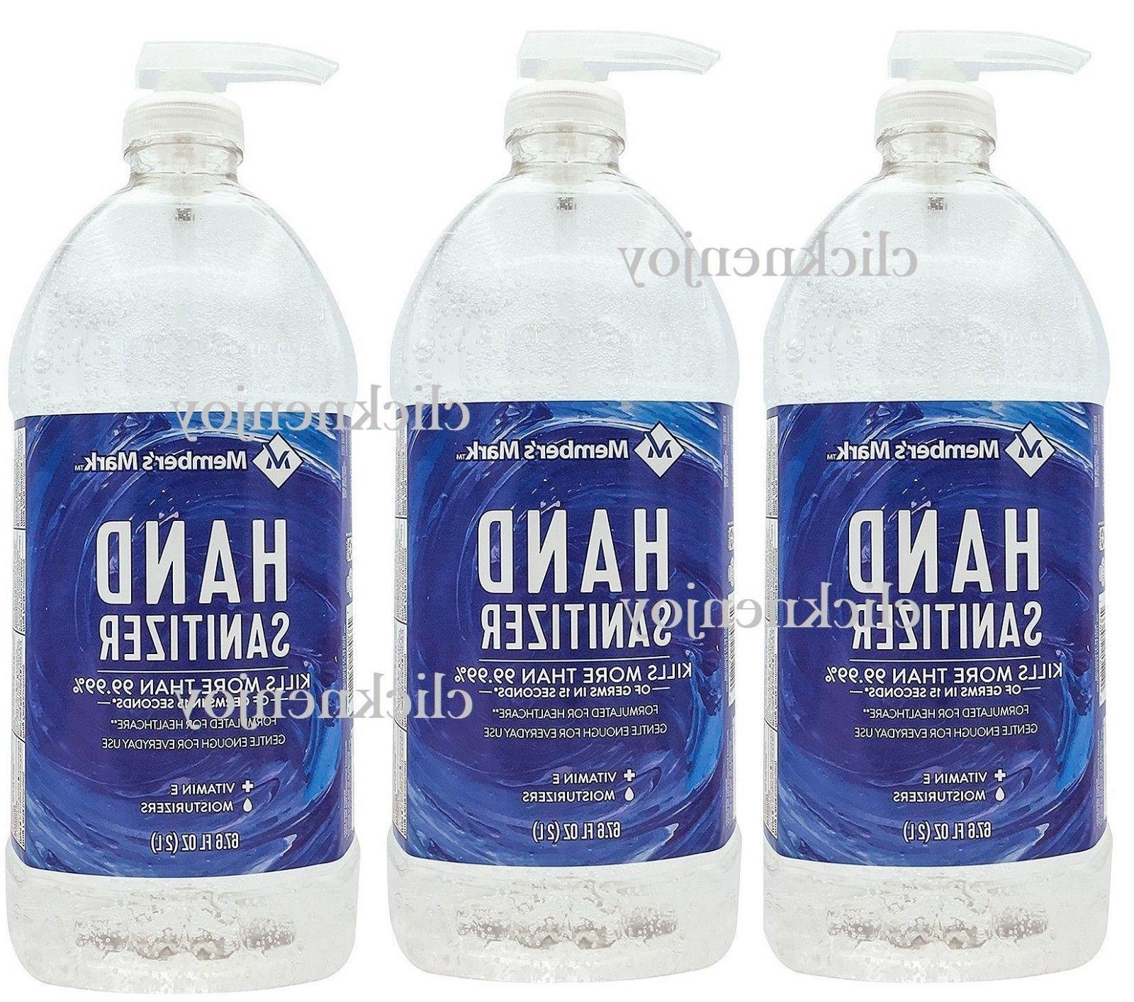 3pk Member's Mark Hand Sanitizer 67.6 Fl.Oz Moisturizing Vit