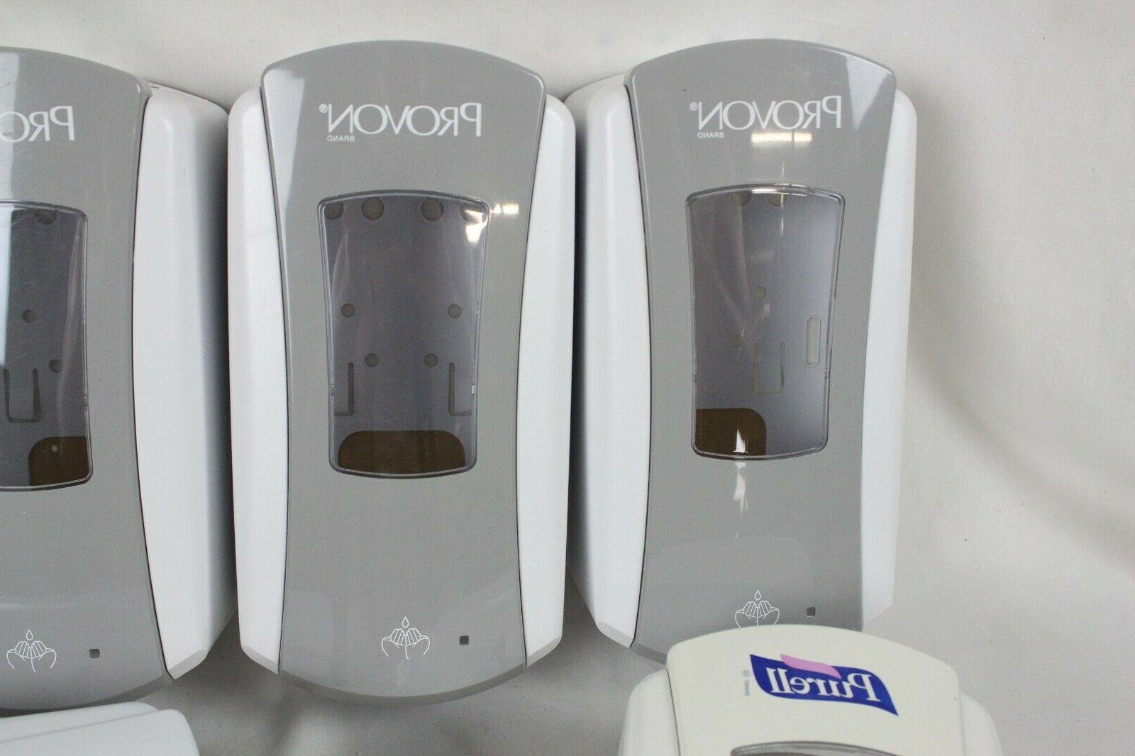 6 and Purell Soap Sanitizer Dispenser Lot Used