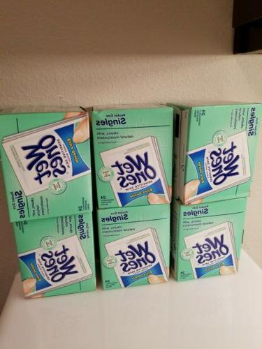 6 boxes fragrance free hand wipes singles