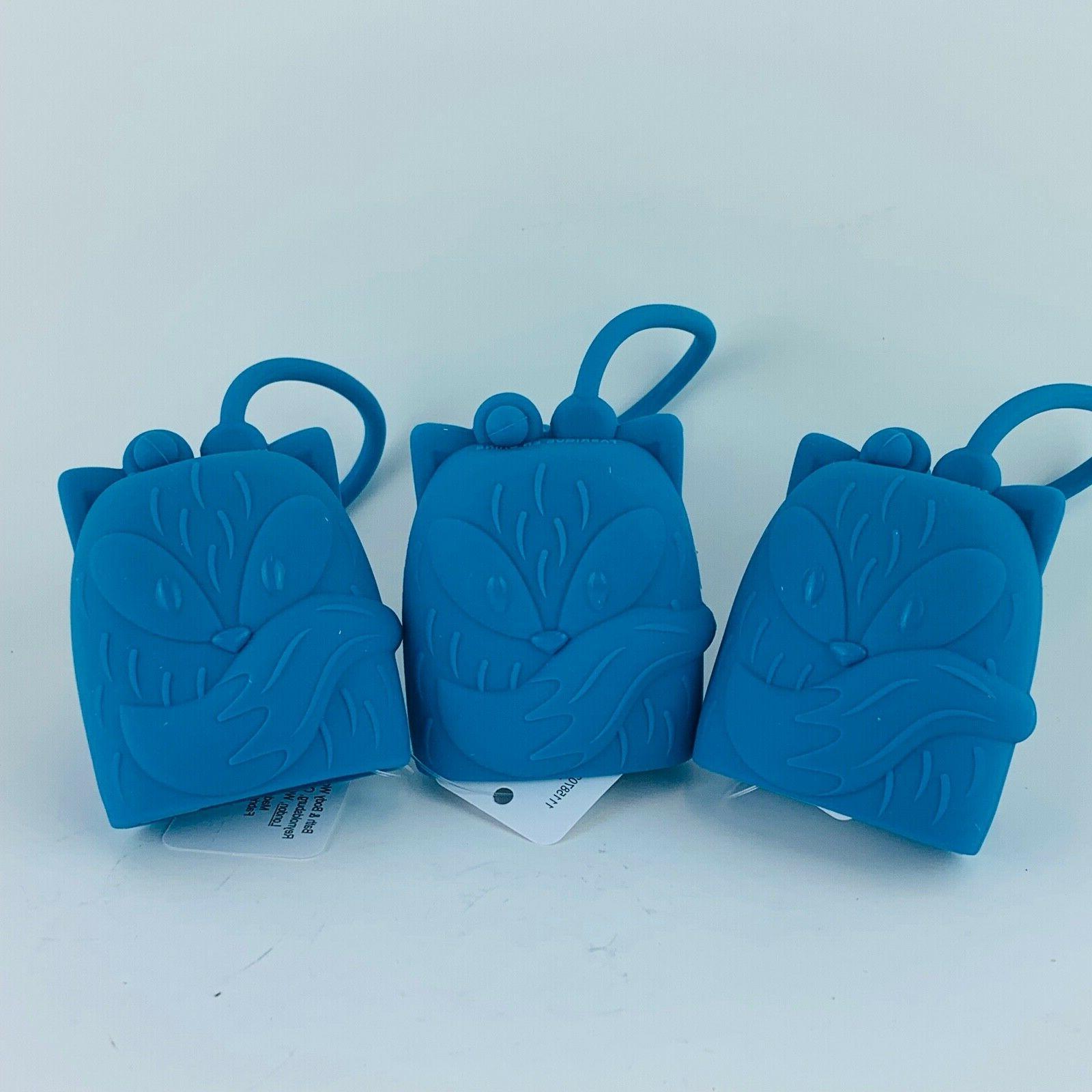 6 Body Works Embossed Blue Fox
