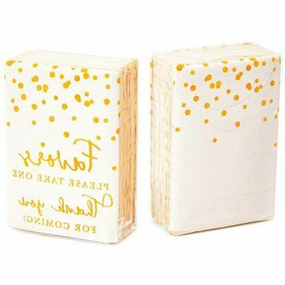 60Pack Thank You for Coming Facial Pocket Travel Tissue Packs, Wedding