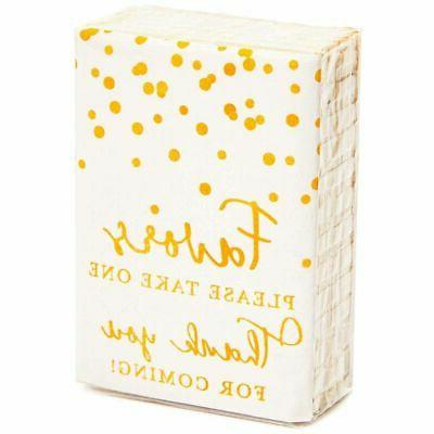 60Pack You for Coming Facial Travel Tissue Gift for Wedding