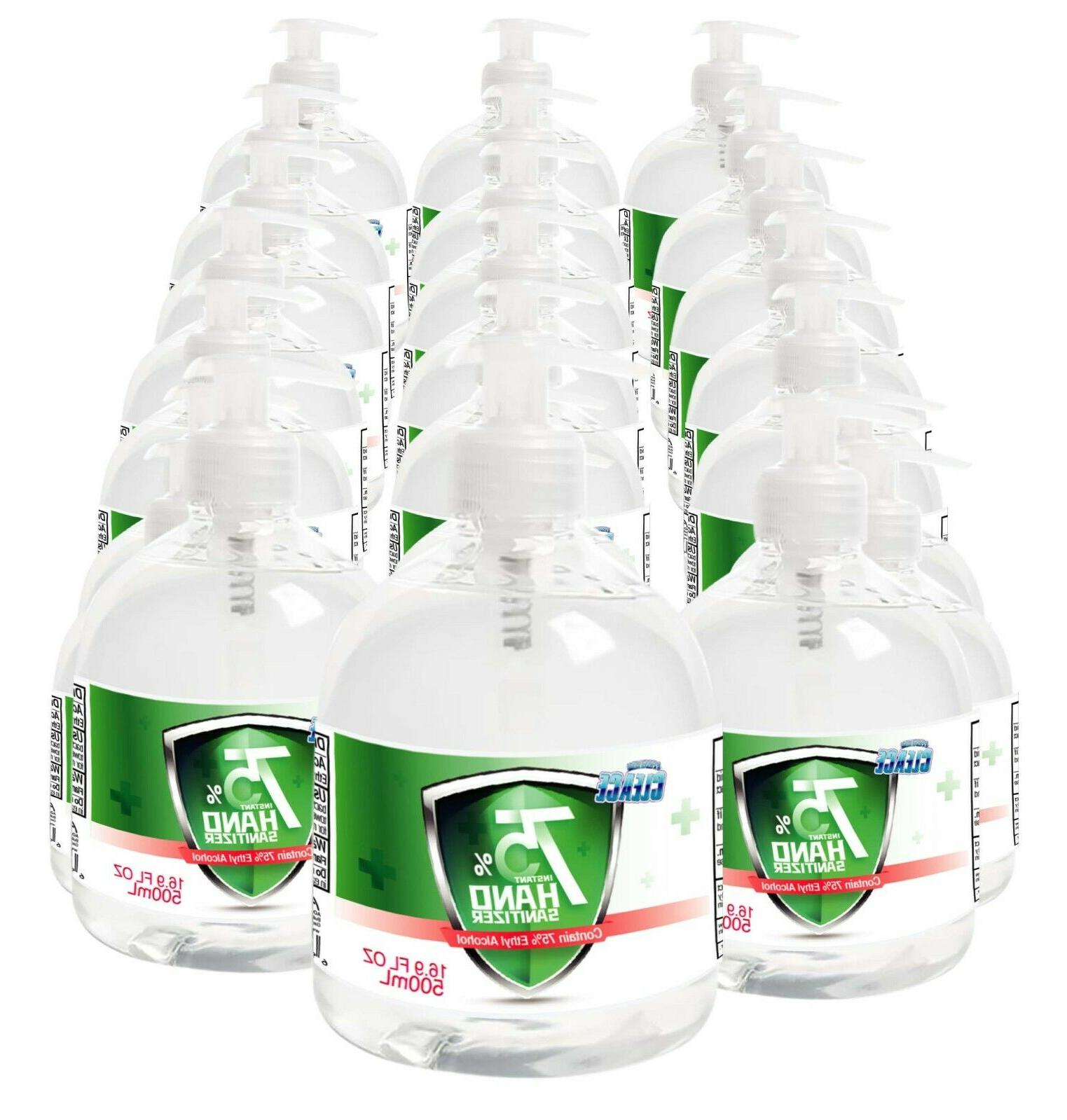Cleace 75% Sanitizer large oz, available