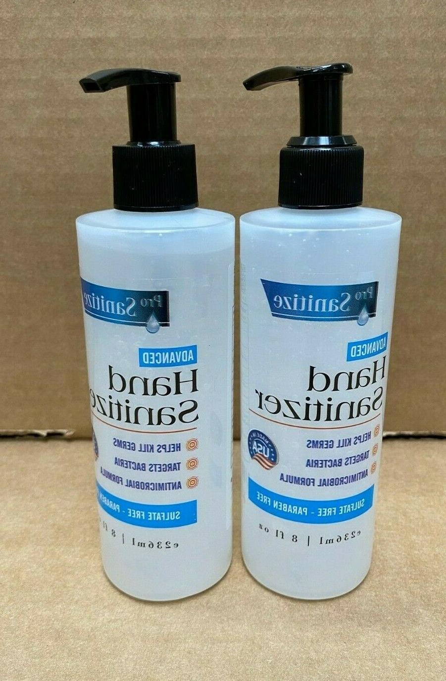 advanced hand sanitizer antimicrobial 2 x 8