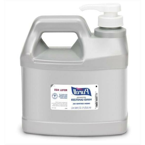 advanced hand sanitizer gel 64oz refill size