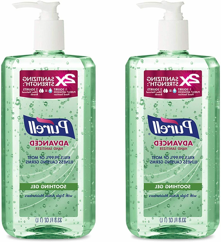 advanced hand sanitizer gel aloe w pump