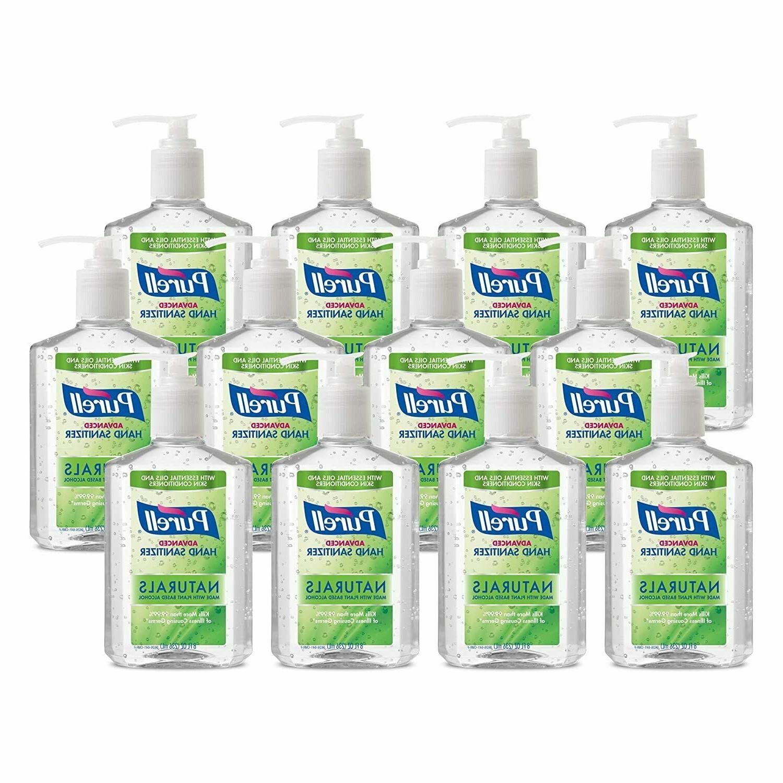 advanced hand sanitizer gel naturals w pump