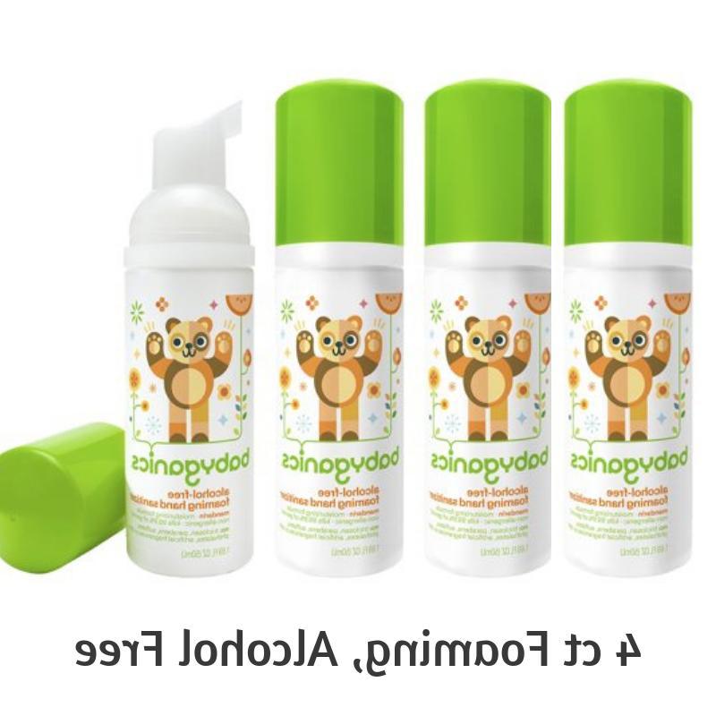 Babyganics Alcohol-Free Foaming Hand Sanitizer 4 ct On-The-G