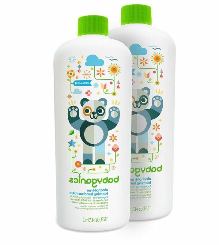 Babyganics Alcohol-Free Foaming Hand Sanitizer Refill, Fragr