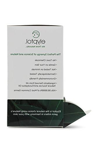 Elyptol Sanitizer Dual Action Moisturizer Formulated with Eucalyptus & 99.9999% Germs Per Bottle,