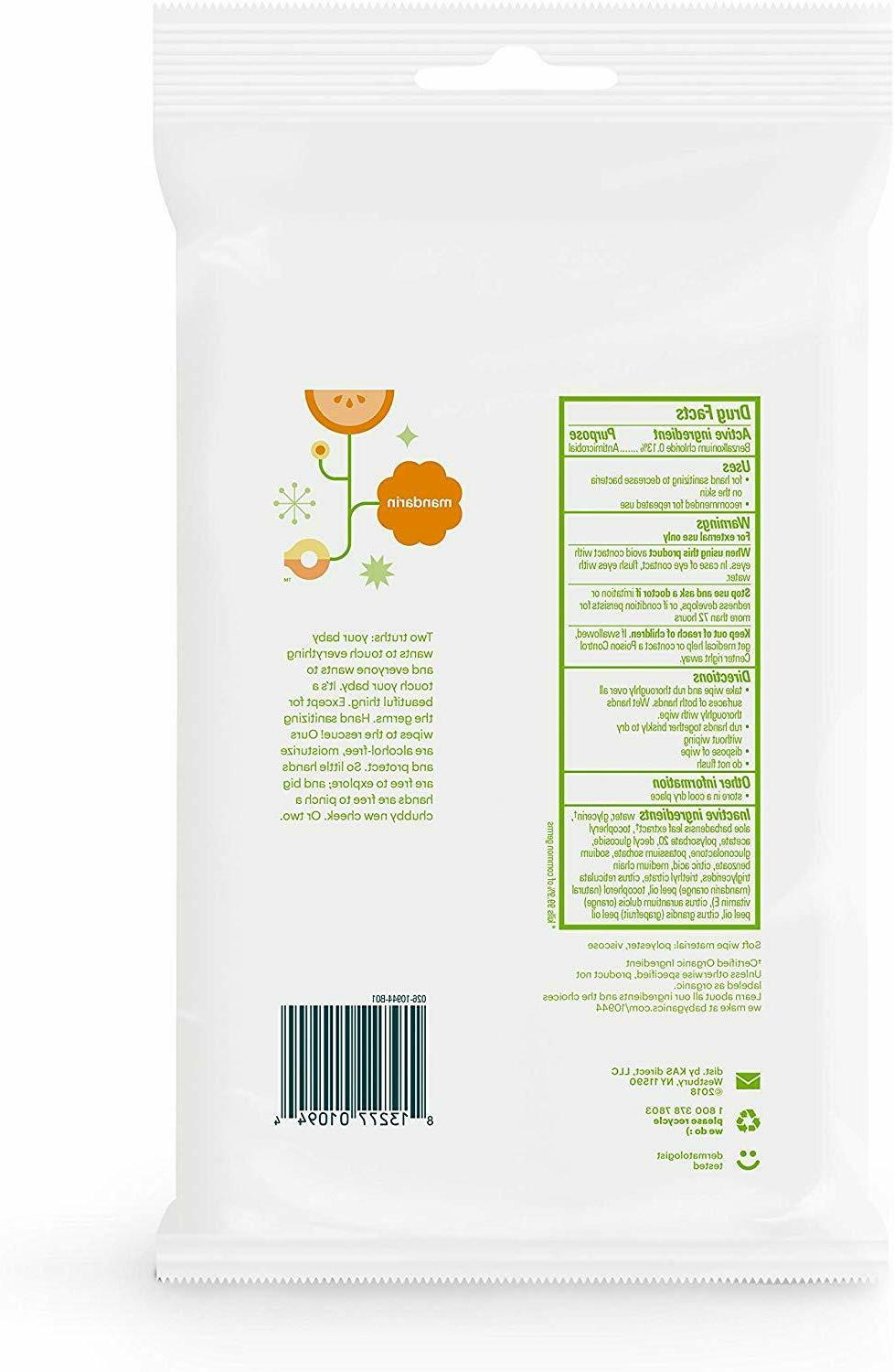 Babyganics Alcohol-Free Wipes,20 Pack, Packaging May