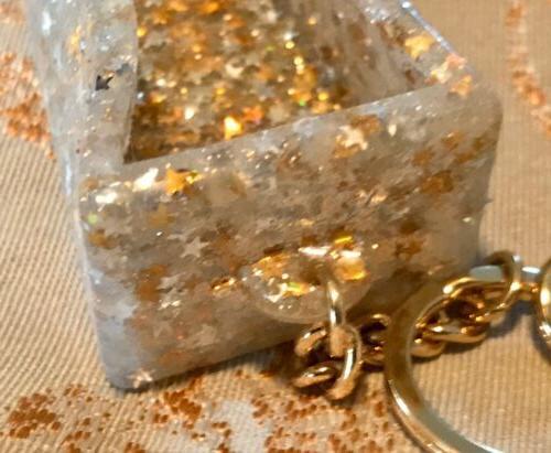 Bath Body Works Gold Glitter Bling-Pocket-Hand Bag Sanitizer Holder Clip