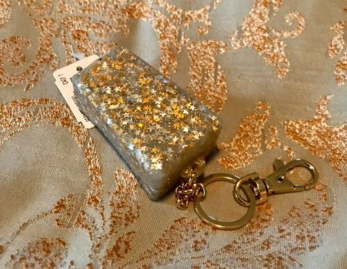 Bath & Gold Glitter Sanitizer Holder Clip