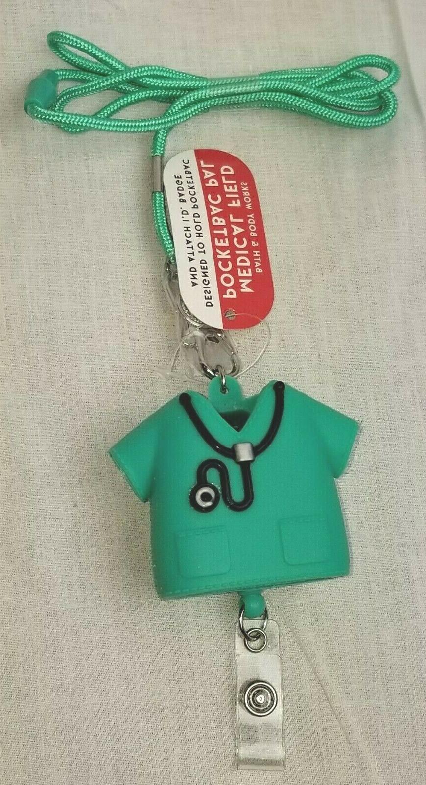 BATH & BODY WORKS MEDICAL DR NURSE SCRUBS POCKETBAC HOLDER S