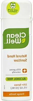 CleanWell® Botanical Hand Sanitizer Spray - Orange Vanilla