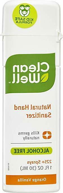 CleanWell Botanical Hand Sanitizer Spray - Orange Vanilla Sc
