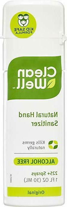 CleanWell Botanical Hand Sanitizer Spray - Original Scent, T