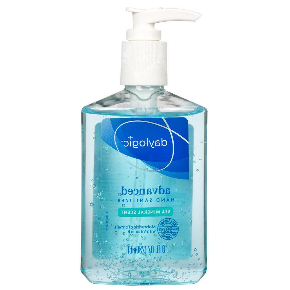 Clear hands advanced sanitiser gel refreshing cleaner 8OZ si