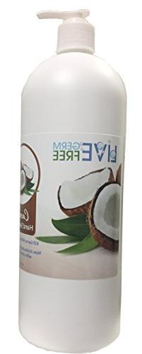 LIVE Germ Free Coconut Hand Sanitizer - Fast Acting & Kills