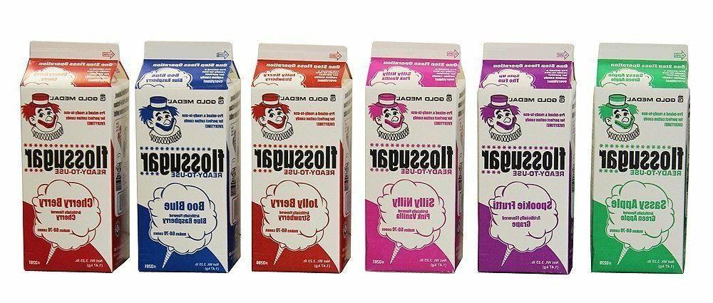 cotton candy sugar floss sugar assorted flavors