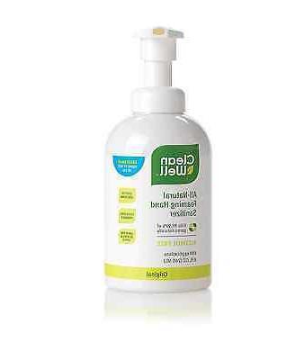CleanWell Botanical Foaming Hand Sanitizer with Pump - Origi