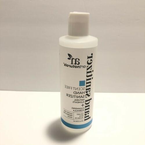 germ art naturals 8oz sanitizer unscented