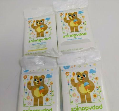 Babyganics Hand Wipes, Organic , Mandarin, Packs