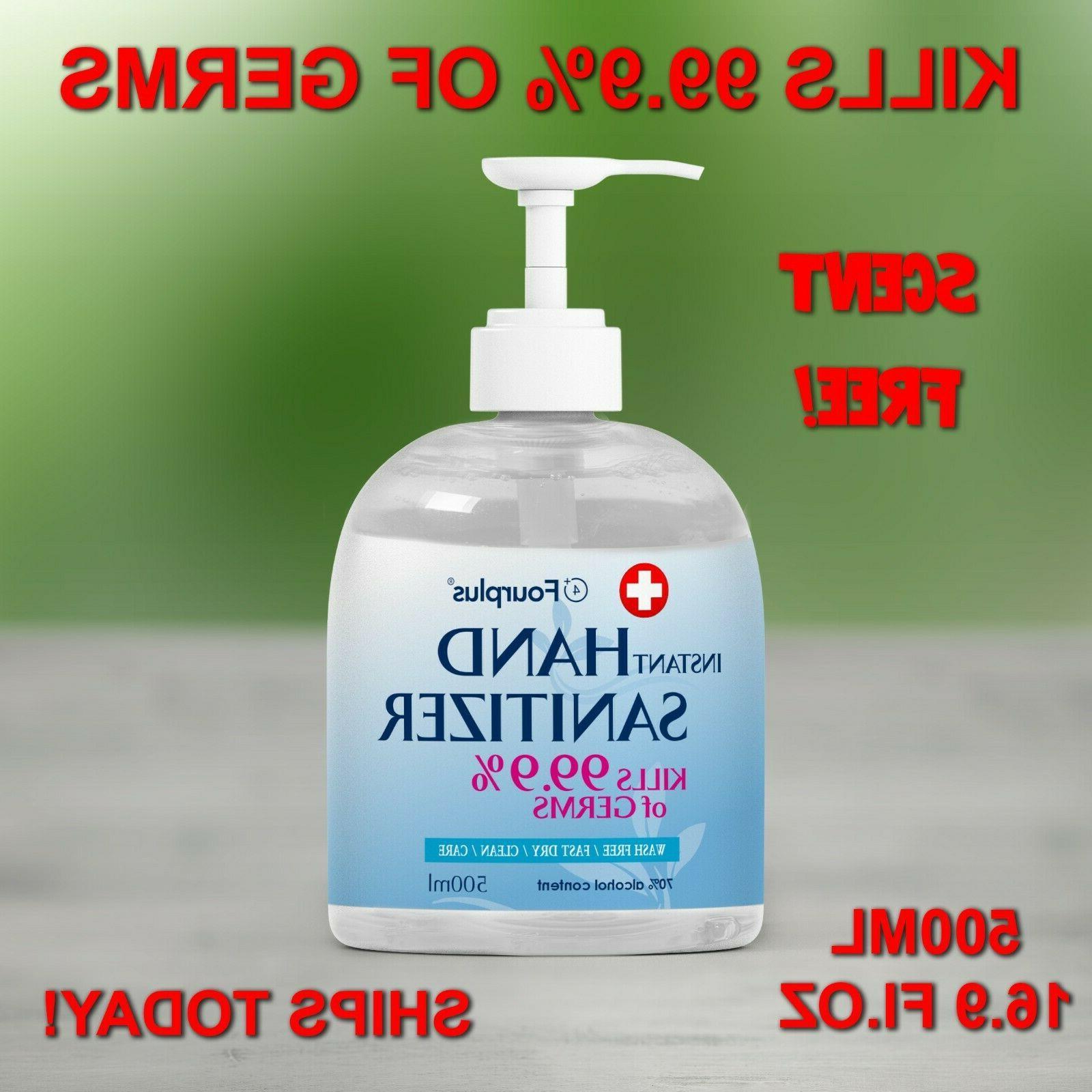 Hand Sanitizer 16.9 fl oz / 500ml Pump Bottle 70% Alcohol Di