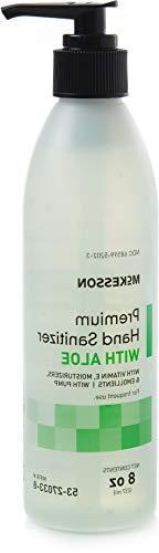 McKesson Premium Hand Sanitizer with Aloe, 8 oz Spring Water