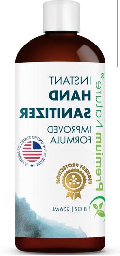 Premium Nature HAND SANITIZER 8 OZ KILLS 99% OF GERMS