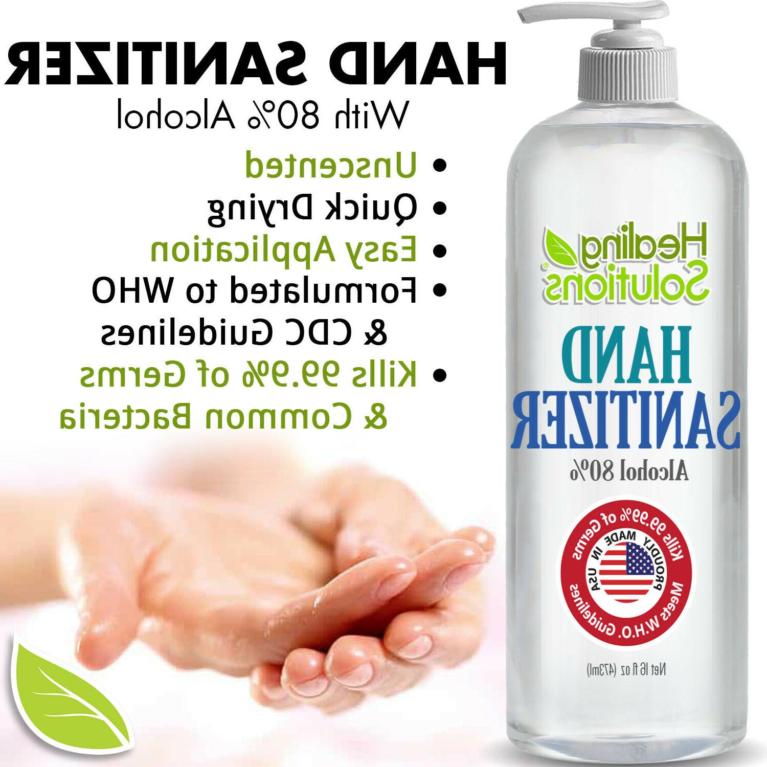 Hand Sanitizer 80% Alcohol meets Standard Ships Today