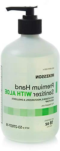 McKesson Premium Hand Sanitizer with Aloe, 18 oz Spring Wate